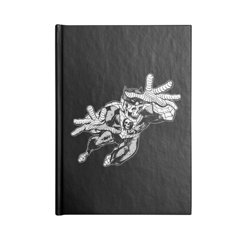 bat-skull-man-spider (two color) Accessories Blank Journal Notebook by Paul Rentler