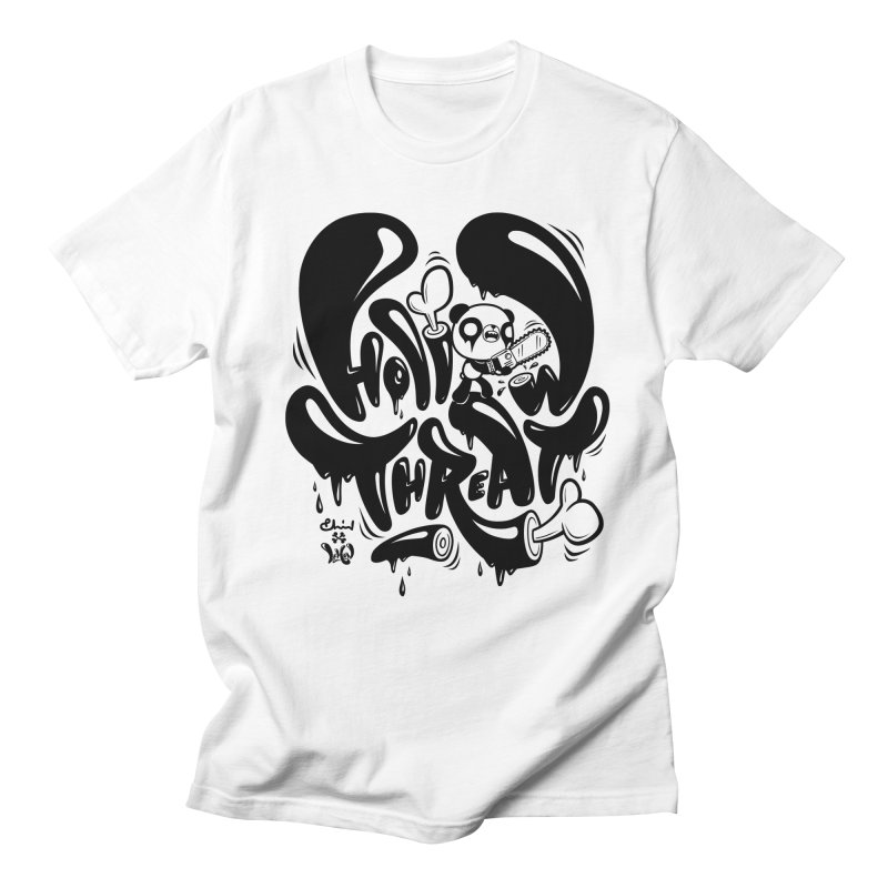 Hollow Threat (LEMON x Paul Shih) in Men's Regular T-Shirt White by Paul Shih