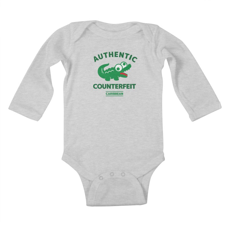 LACROCS - AUTHENTIC COUNTERFEIT Kids Baby Longsleeve Bodysuit by Paul Shih