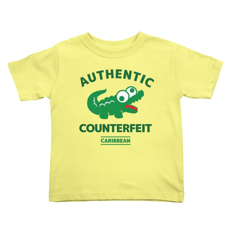 LACROCS - AUTHENTIC COUNTERFEIT Kids Toddler T-Shirt by Paul Shih