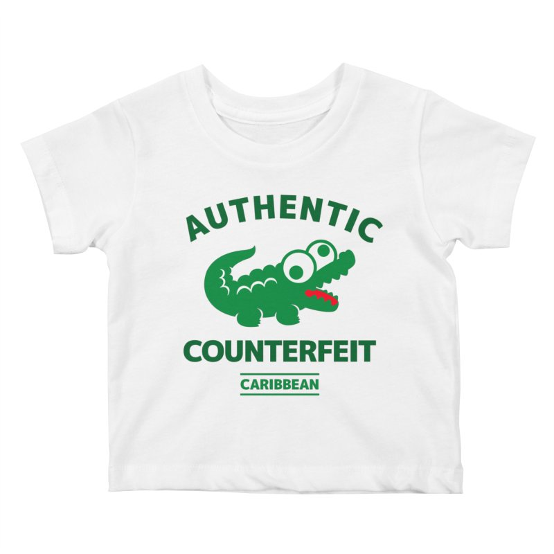LACROCS - AUTHENTIC COUNTERFEIT Kids Baby T-Shirt by Paul Shih