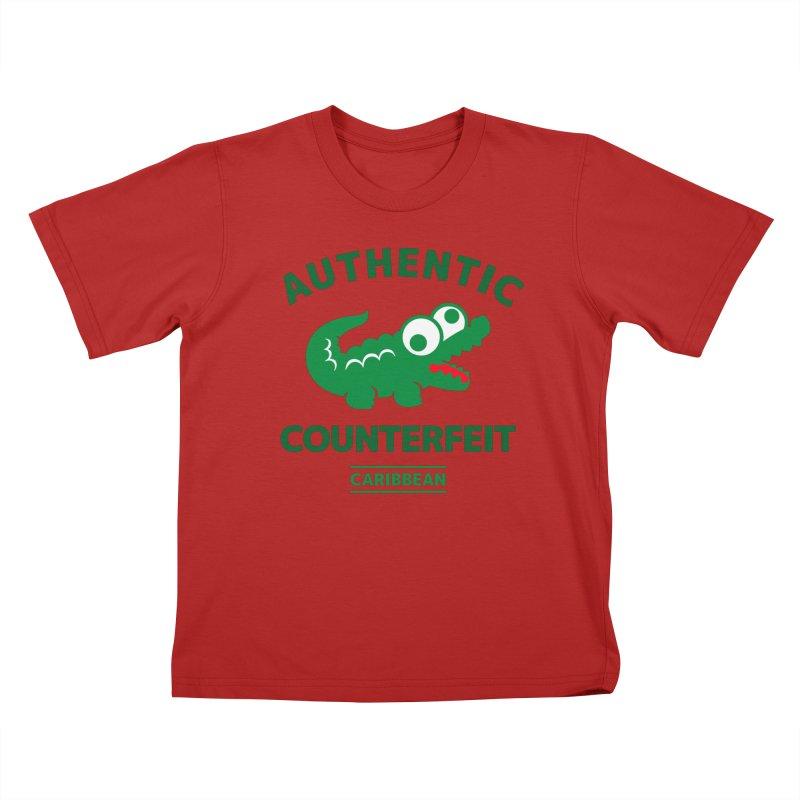 LACROCS - AUTHENTIC COUNTERFEIT Kids T-shirt by Paul Shih