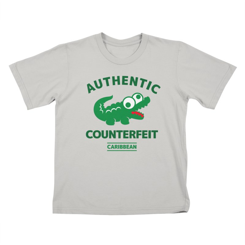 LACROCS - AUTHENTIC COUNTERFEIT Kids T-shirt by Paul Shih
