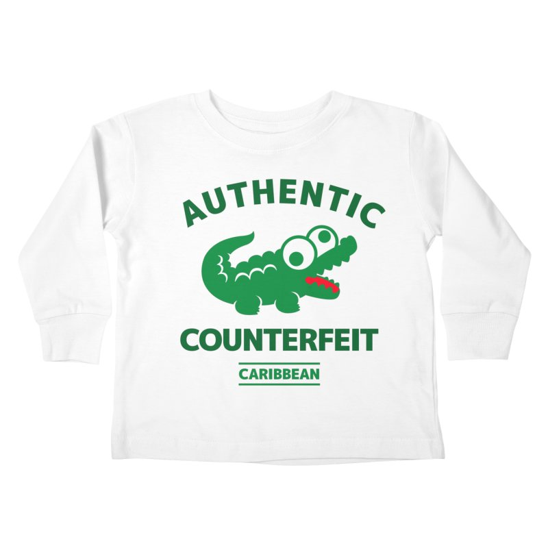 LACROCS - AUTHENTIC COUNTERFEIT Kids Toddler Longsleeve T-Shirt by Paul Shih