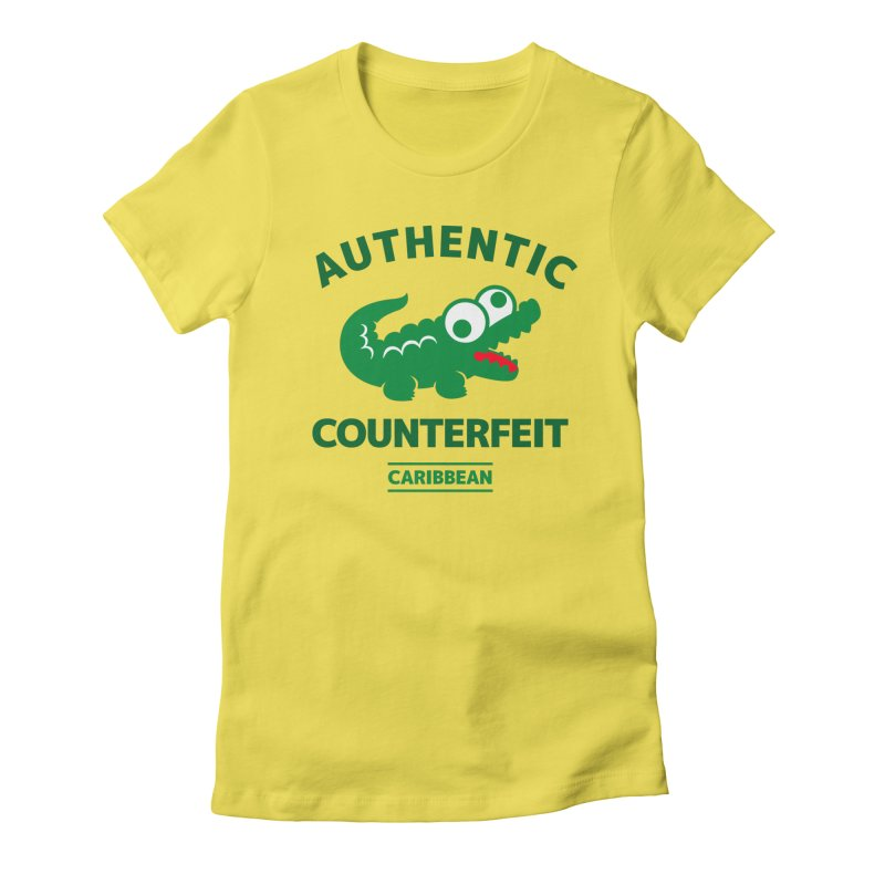 LACROCS - AUTHENTIC COUNTERFEIT Women's Fitted T-Shirt by Paul Shih