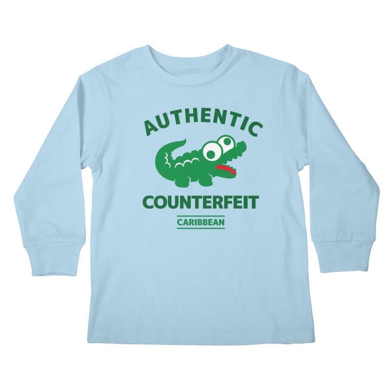 LACROCS - AUTHENTIC COUNTERFEIT Kids Longsleeve T-Shirt by Paul Shih