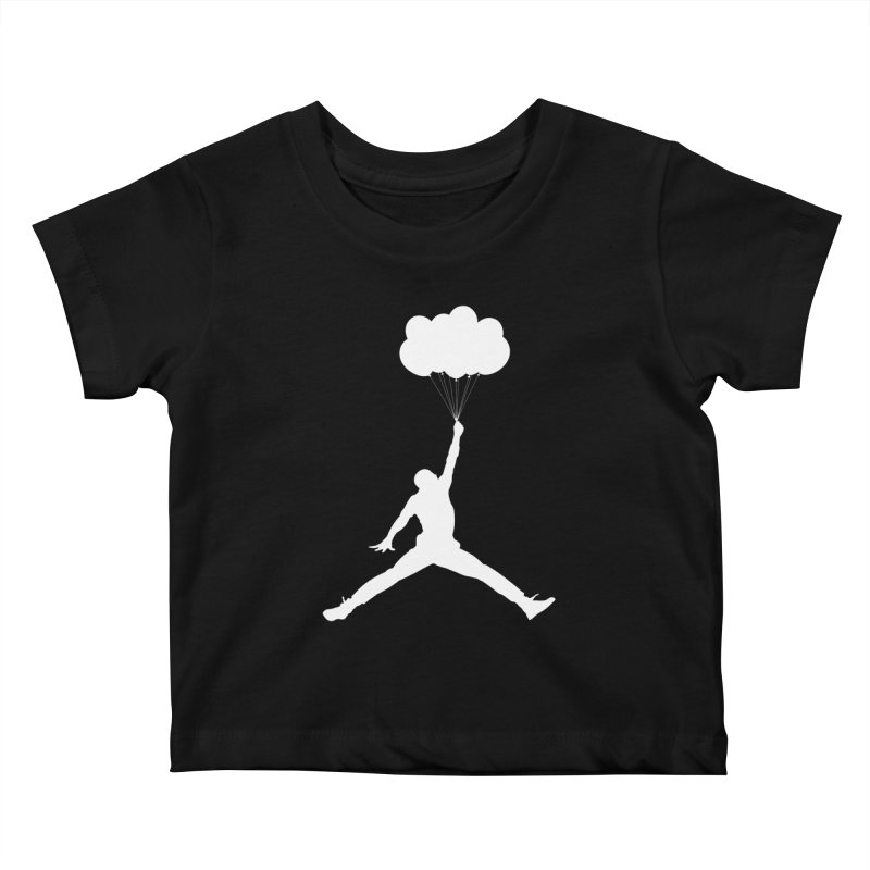 AIR MICHAEL Kids Baby T-Shirt by Paul Shih