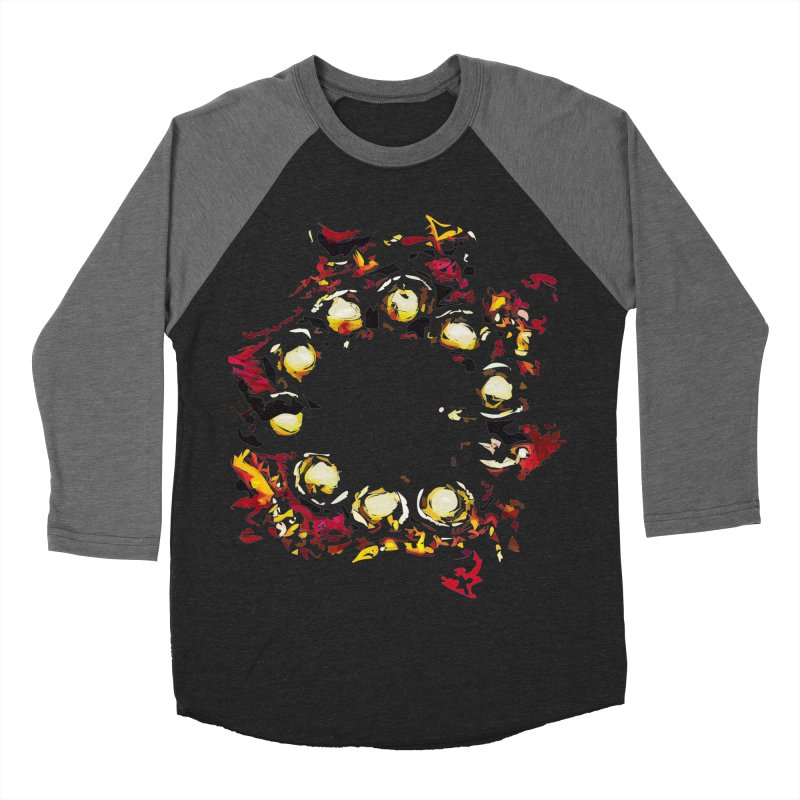 Decamarooon Men's Baseball Triblend T-Shirt by Irresponsible People Black T-Shirts