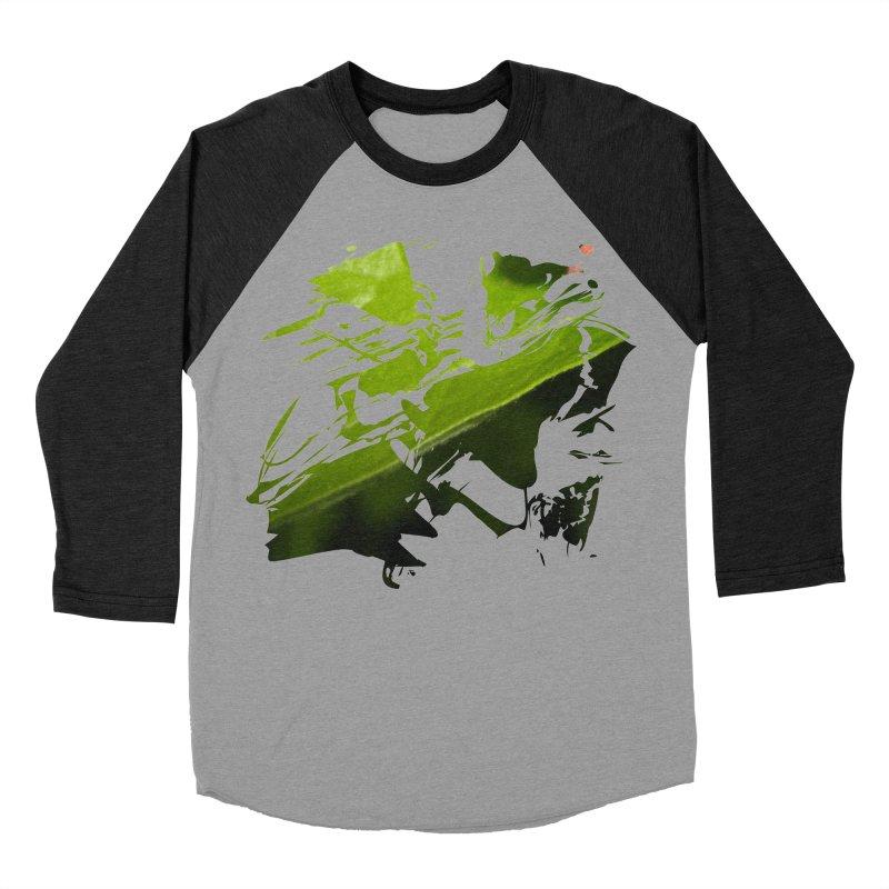 Away Away Away Men's Baseball Triblend Longsleeve T-Shirt by Irresponsible People Black T-Shirts