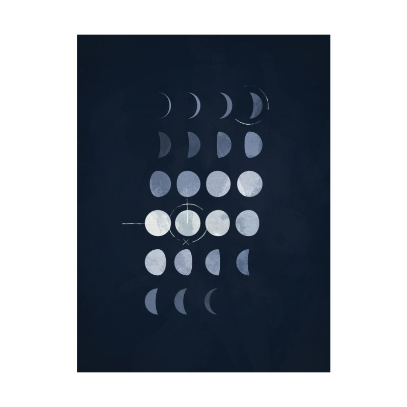 Must Be The Moon Home Stretched Canvas by Art of Paul Tebbott