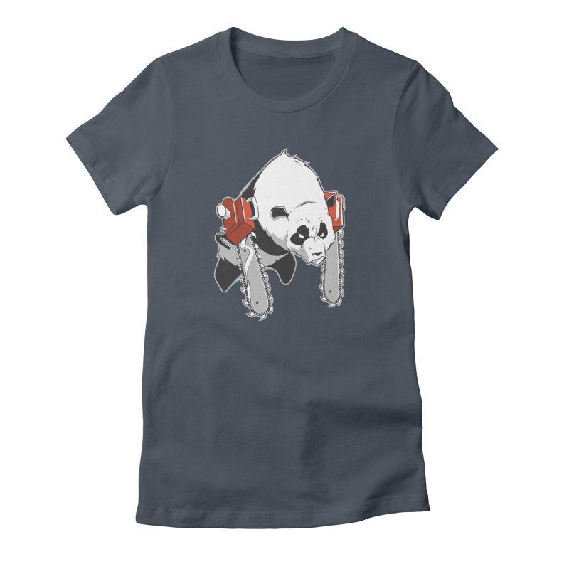 Chainsaw Panda Women's T-Shirt by pause's Artist Shop
