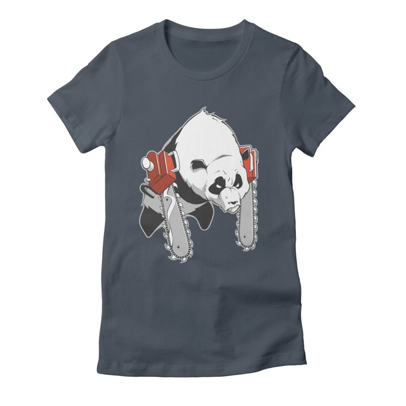 Chainsaw Panda Women's Fitted T-Shirt by pause's Artist Shop