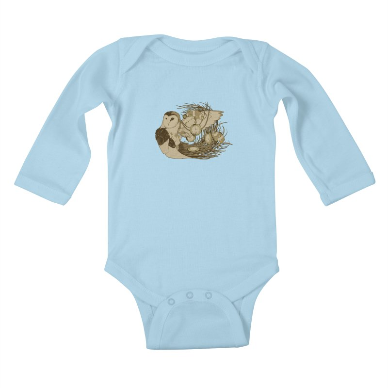 Hootie and the Clownfish Kids Baby Longsleeve Bodysuit by pause's Artist Shop