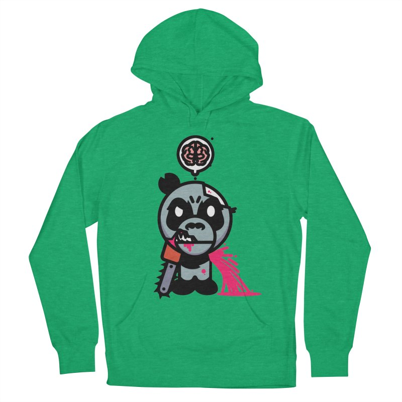Chainsaw Panda Zombie Women's Pullover Hoody by pause's Artist Shop