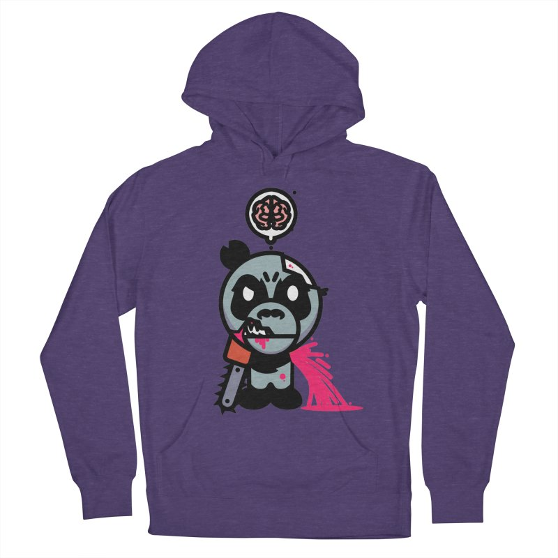 Chainsaw Panda Zombie Men's Pullover Hoody by pause's Artist Shop