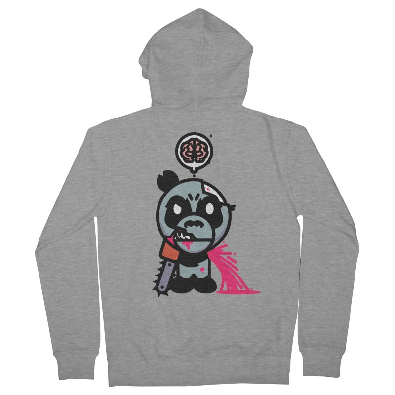 Chainsaw Panda Zombie Women's Zip-Up Hoody by pause's Artist Shop