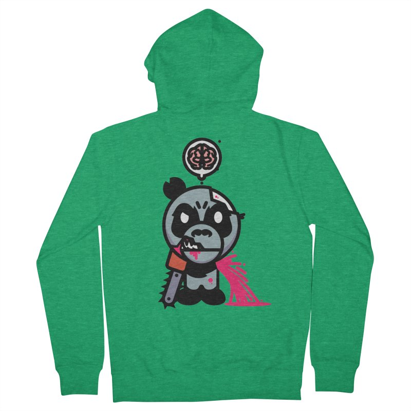 Chainsaw Panda Zombie Men's Zip-Up Hoody by pause's Artist Shop