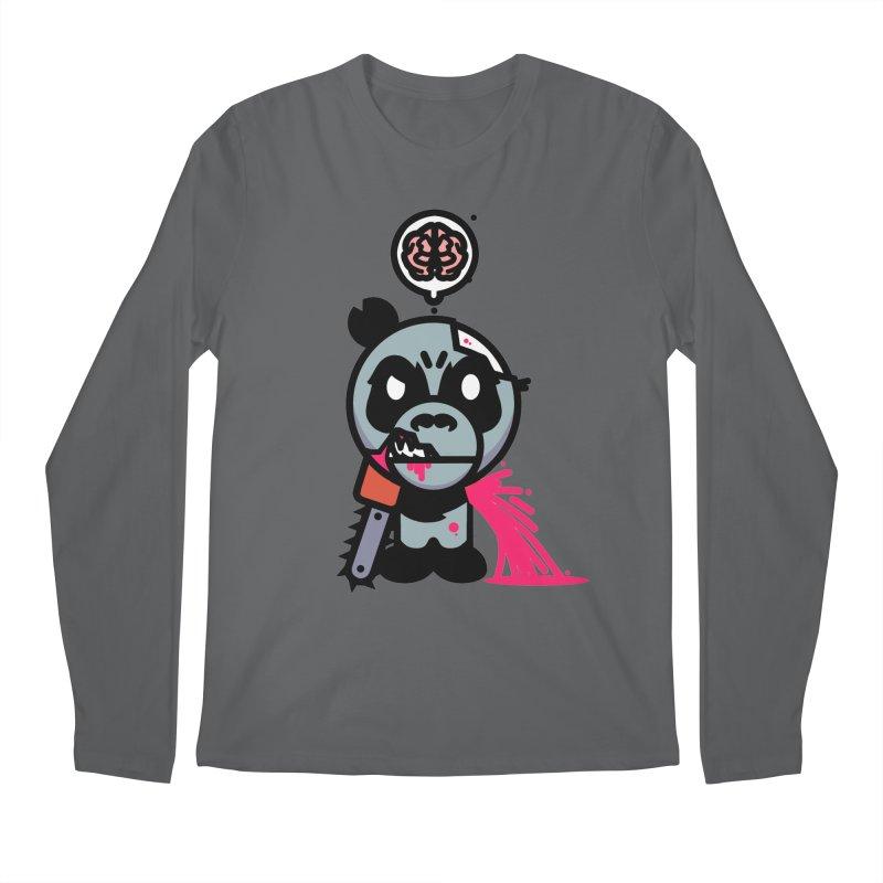 Chainsaw Panda Zombie Men's Longsleeve T-Shirt by pause's Artist Shop