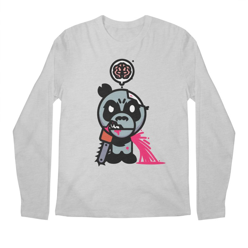 Chainsaw Panda Zombie Men's Longsleeve T-Shirt by pause's Artist Shop