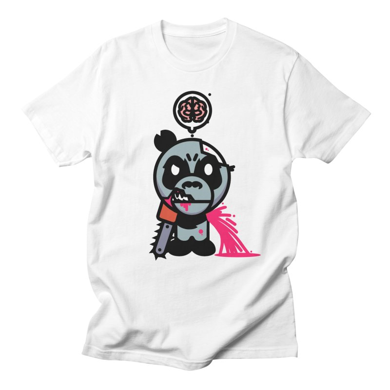 Chainsaw Panda Zombie Men's T-Shirt by pause's Artist Shop