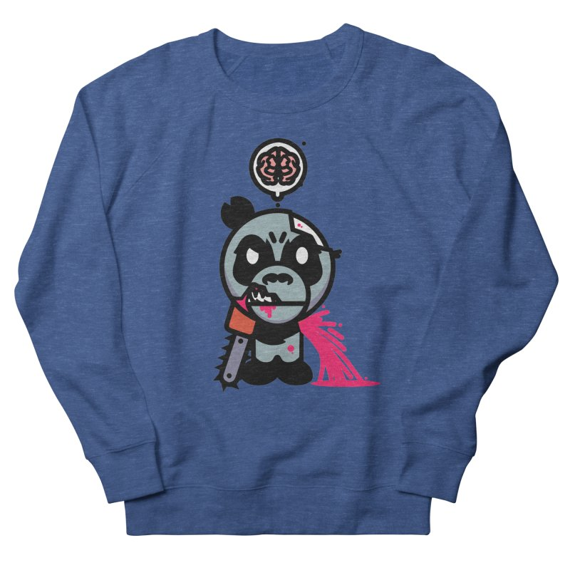 Chainsaw Panda Zombie Men's Sweatshirt by pause's Artist Shop