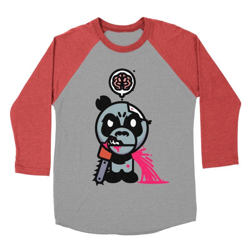 Chainsaw Panda Zombie Women's Baseball Triblend T-Shirt by pause's Artist Shop