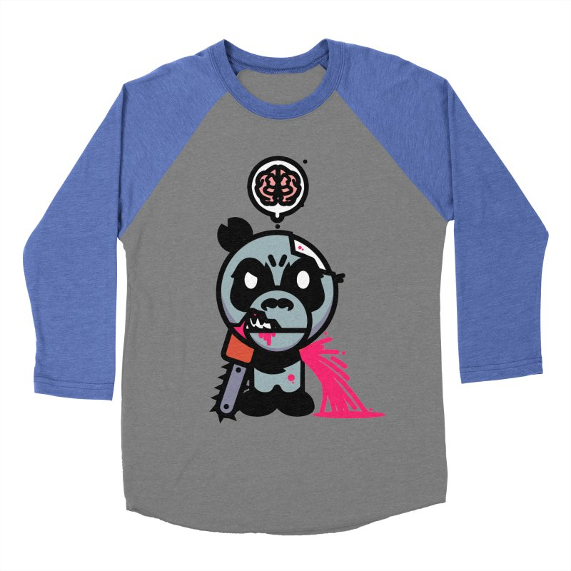 Chainsaw Panda Zombie Men's Baseball Triblend T-Shirt by pause's Artist Shop