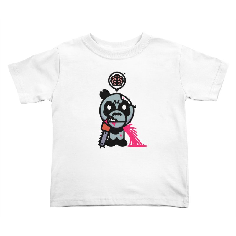 Chainsaw Panda Zombie Kids Toddler T-Shirt by pause's Artist Shop
