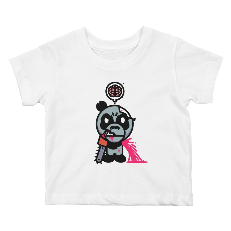 Chainsaw Panda Zombie Kids Baby T-Shirt by pause's Artist Shop