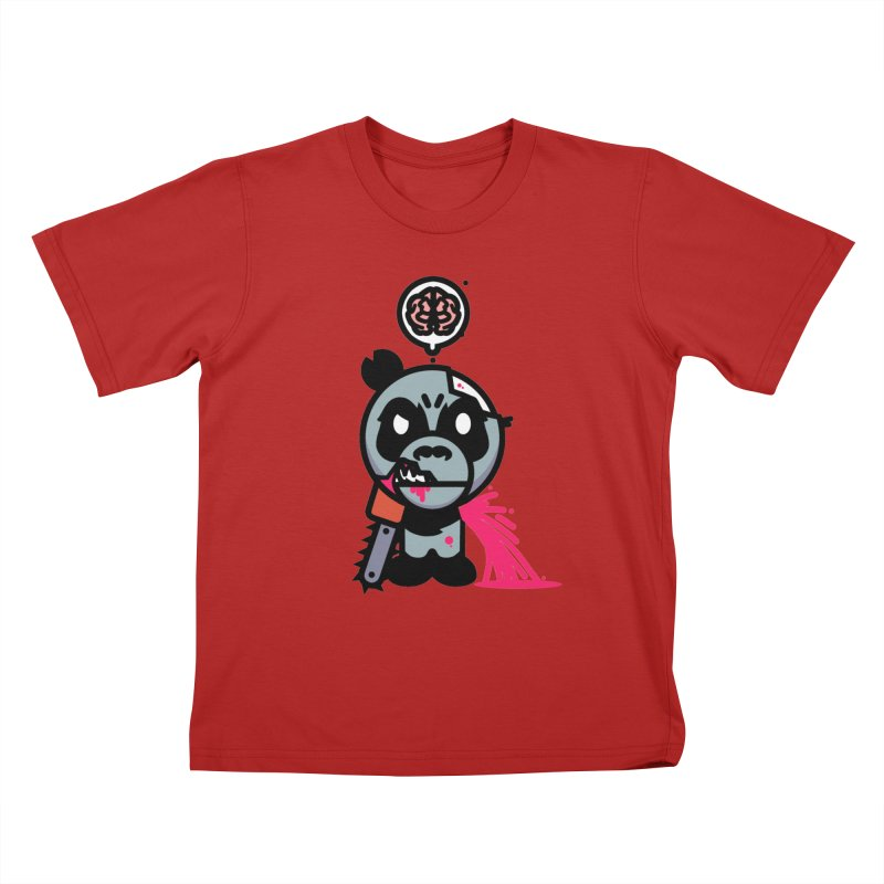 Chainsaw Panda Zombie Kids T-shirt by pause's Artist Shop