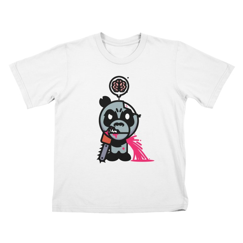 Chainsaw Panda Zombie Kids T-Shirt by pause's Artist Shop