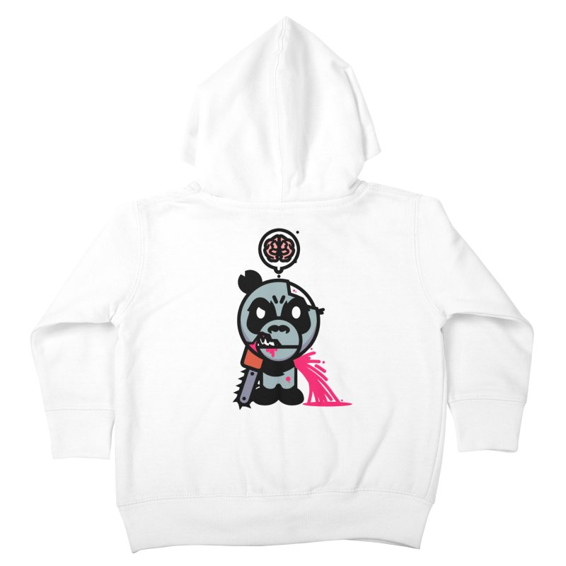 Chainsaw Panda Zombie Kids Toddler Zip-Up Hoody by pause's Artist Shop