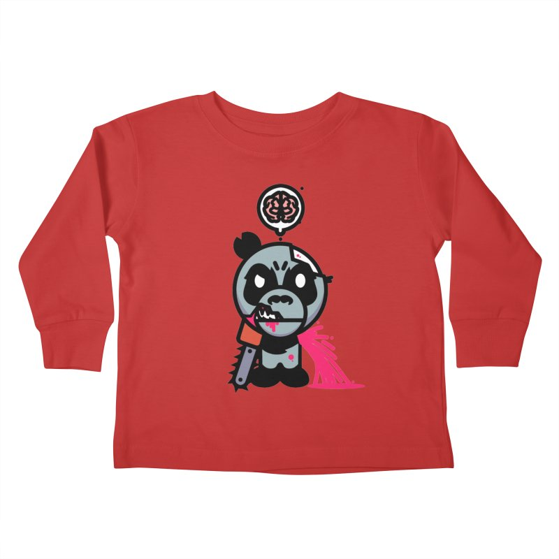 Chainsaw Panda Zombie Kids Toddler Longsleeve T-Shirt by pause's Artist Shop