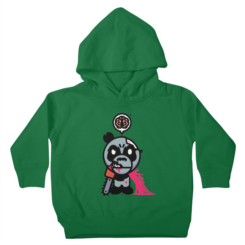 Chainsaw Panda Zombie Kids Toddler Pullover Hoody by pause's Artist Shop