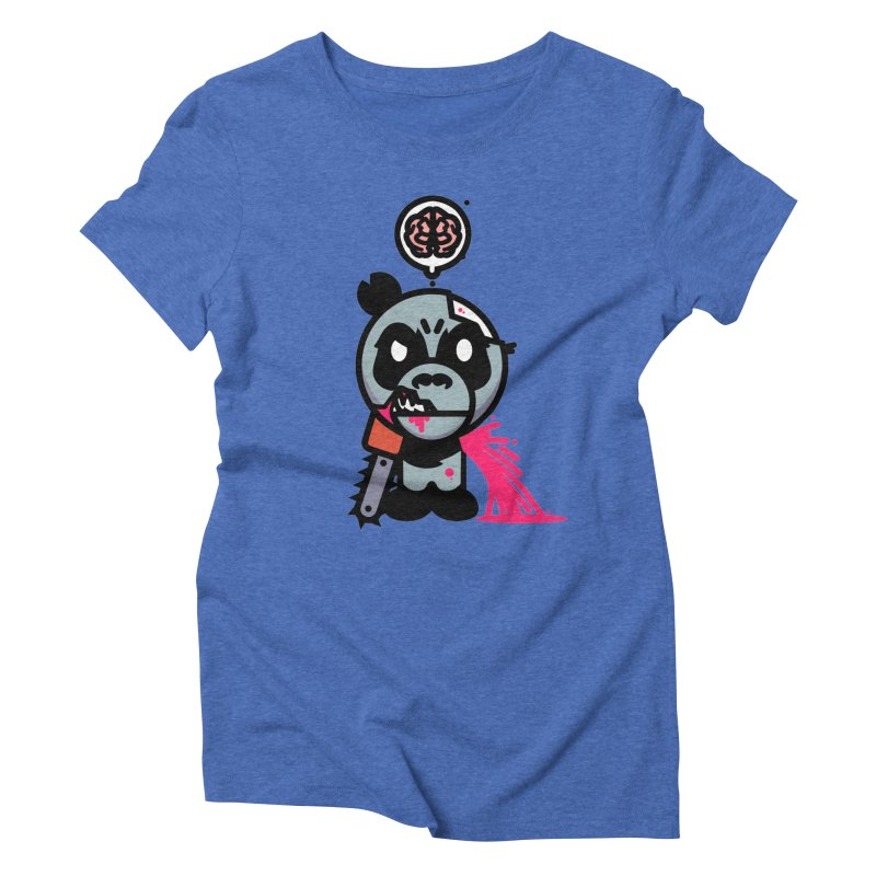 Chainsaw Panda Zombie Women's Triblend T-Shirt by pause's Artist Shop