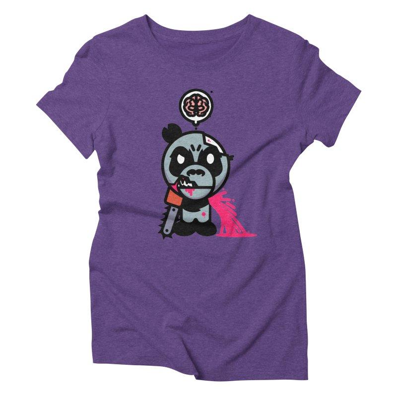 Chainsaw Panda Zombie Women's Triblend T-Shirt by pause's Artist Shop