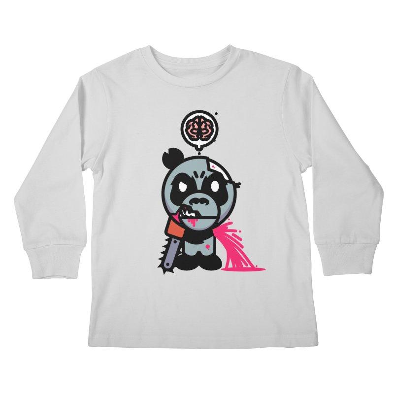 Chainsaw Panda Zombie Kids Longsleeve T-Shirt by pause's Artist Shop