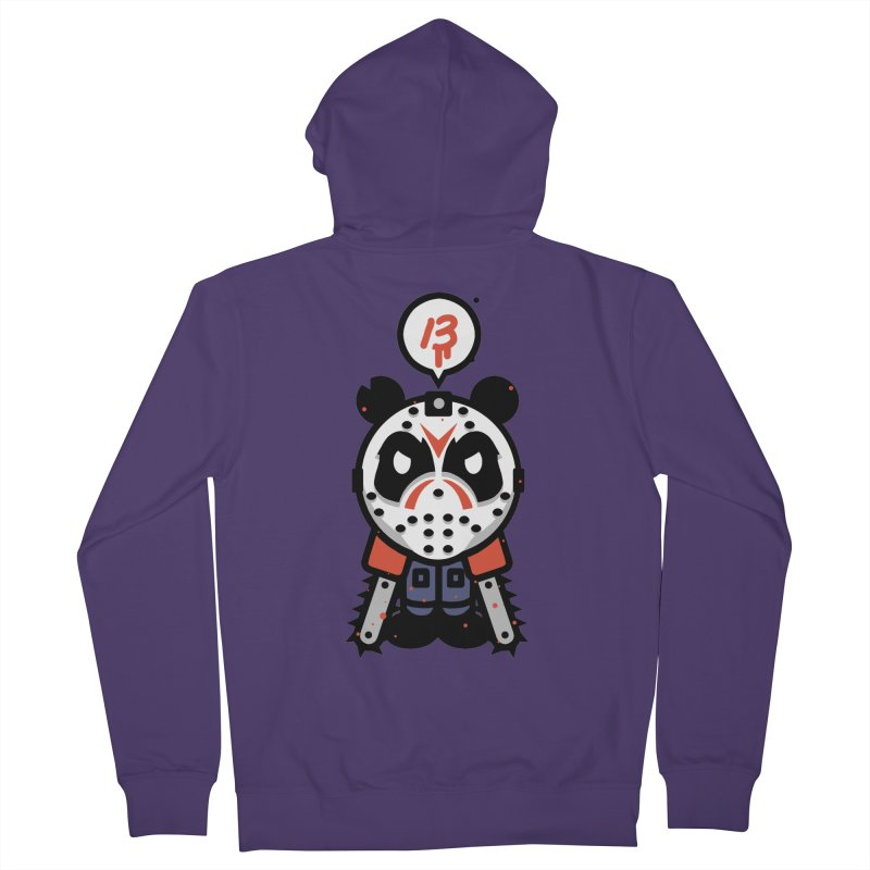 Chainsaw Panda Slasher Women's Zip-Up Hoody by pause's Artist Shop