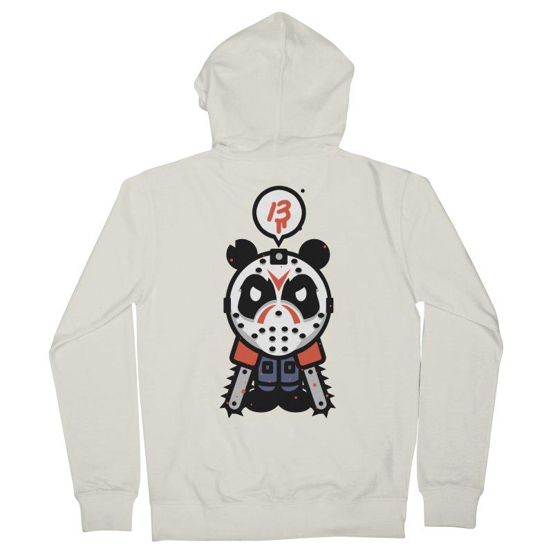 Chainsaw Panda Slasher Women's Zip-Up Hoody by pause's Artist Shop