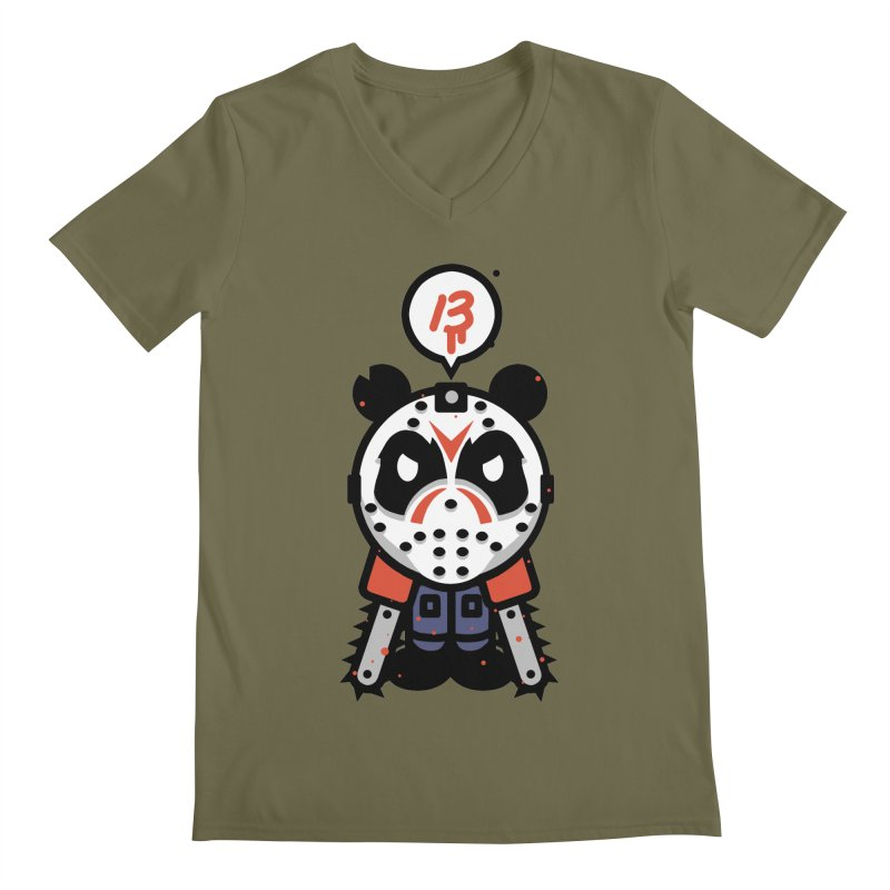 Chainsaw Panda Slasher Men's V-Neck by pause's Artist Shop