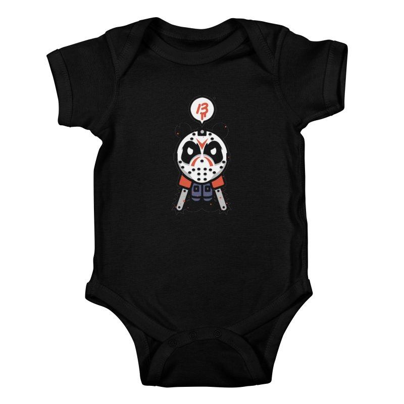 Chainsaw Panda Slasher Kids Baby Bodysuit by pause's Artist Shop