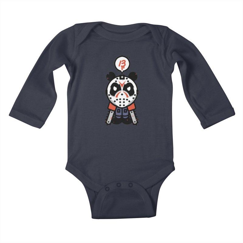 Chainsaw Panda Slasher Kids Baby Longsleeve Bodysuit by pause's Artist Shop
