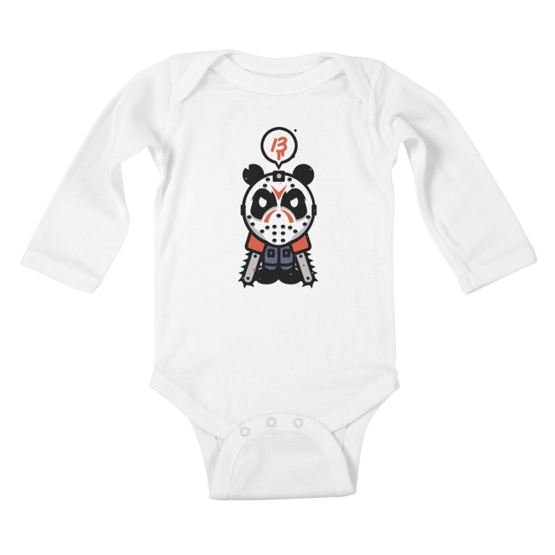 Chainsaw Panda Slasher Kids Baby Longsleeve Bodysuit by pause's Artist Shop