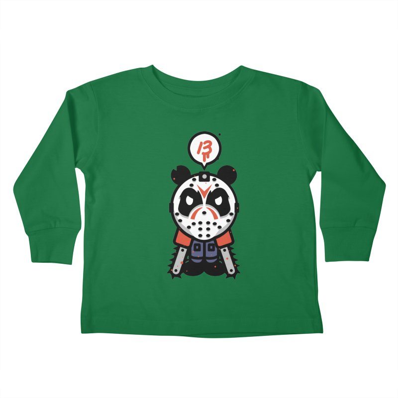 Chainsaw Panda Slasher Kids Toddler Longsleeve T-Shirt by pause's Artist Shop
