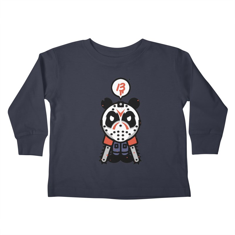Chainsaw Panda Slasher Kids Toddler Longsleeve T-Shirt by pause's Artist Shop