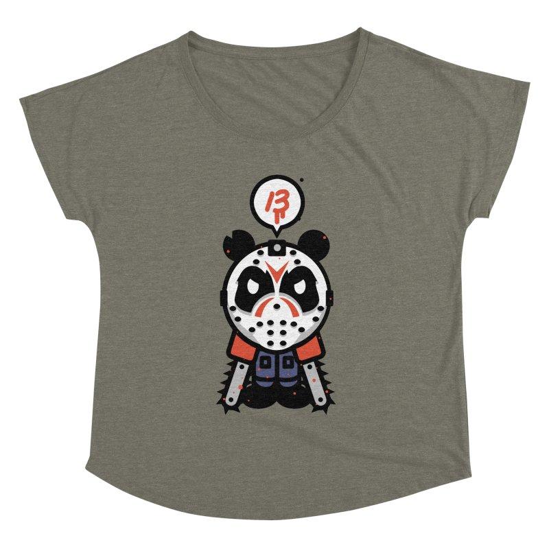 Chainsaw Panda Slasher Women's Dolman by pause's Artist Shop
