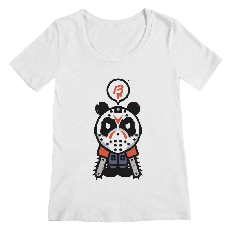 Chainsaw Panda Slasher Women's Scoopneck by pause's Artist Shop