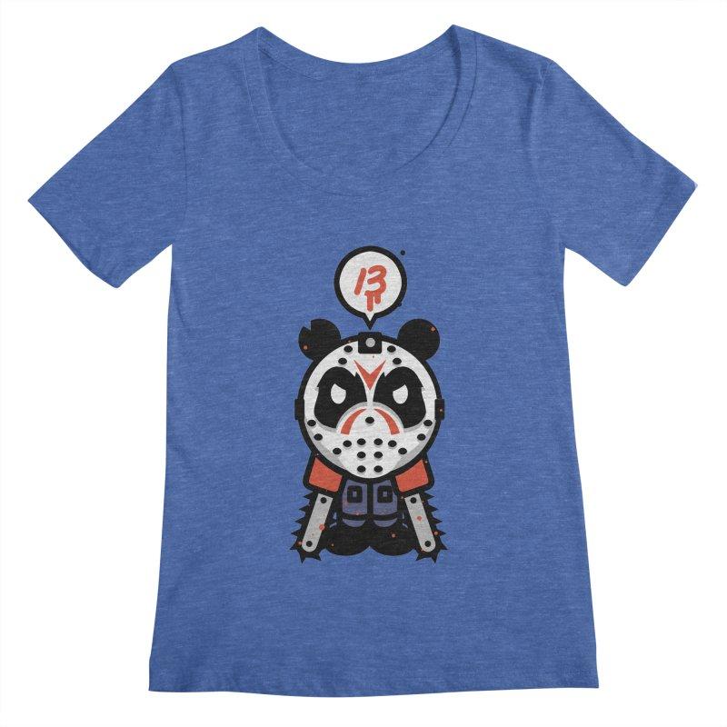 Chainsaw Panda Slasher Women's Scoopneck by pause's Artist Shop