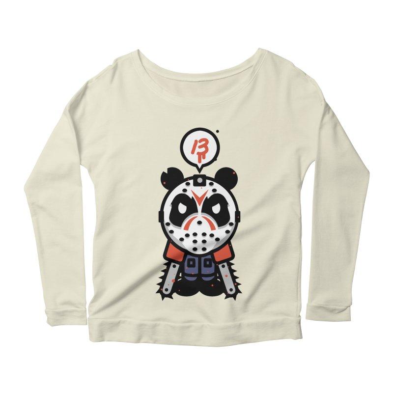 Chainsaw Panda Slasher Women's Longsleeve Scoopneck  by pause's Artist Shop