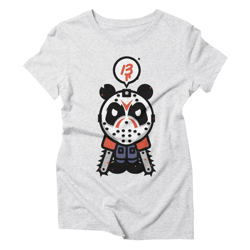 Chainsaw Panda Slasher Women's Triblend T-Shirt by pause's Artist Shop